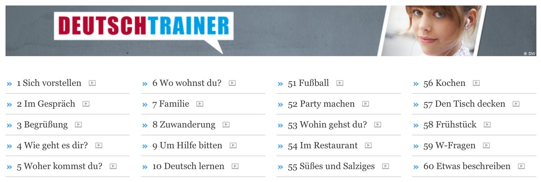 Различные темы от Deutschtrainer