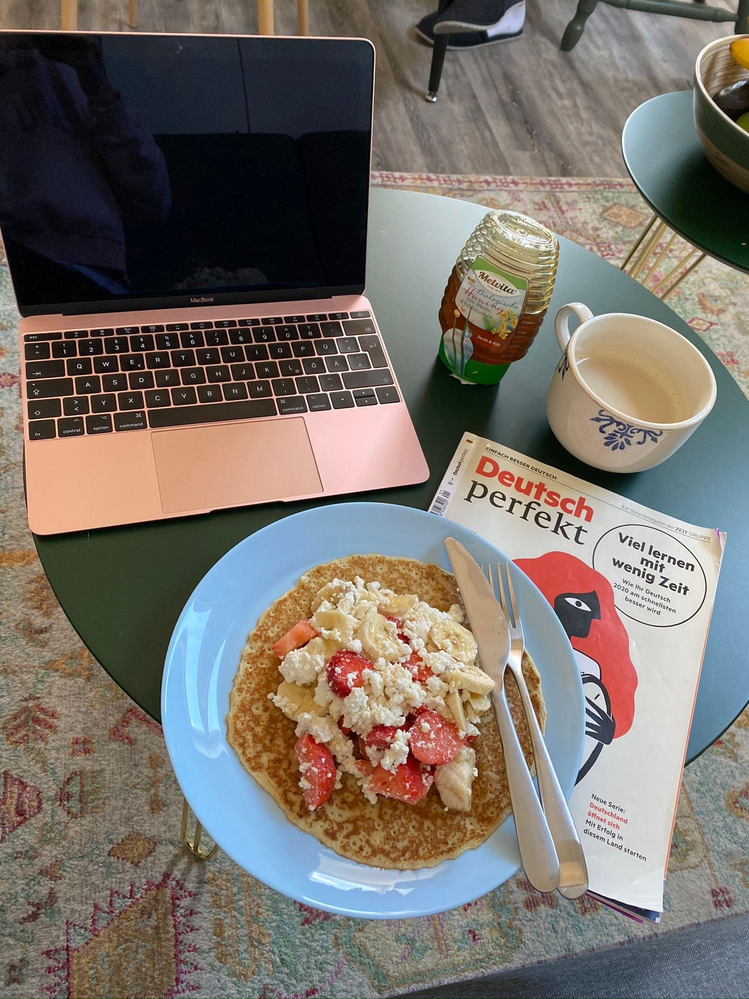 Идеальное время для сытного завтрака и самообразования