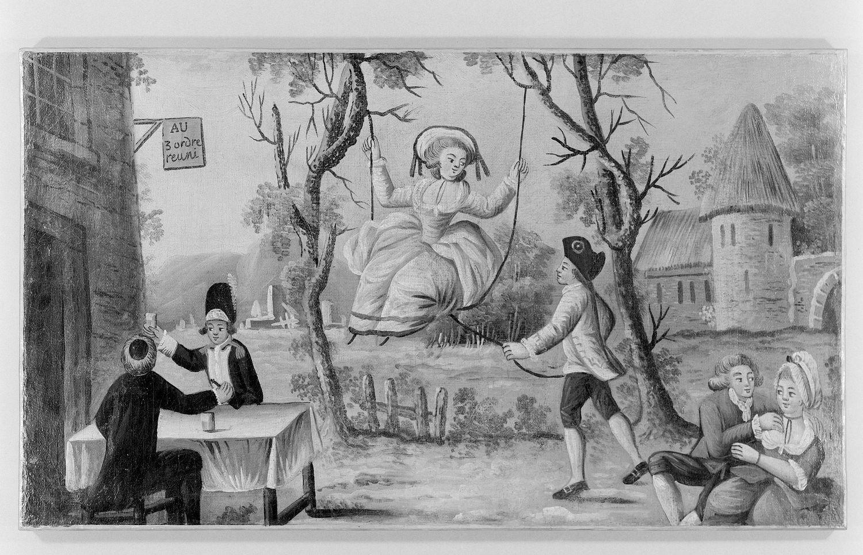 Картина французского анонимного художника. Aux trois ordres réunis